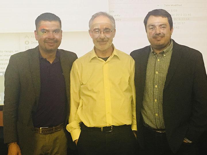 Doctores Sánchez, García-Alix, Arnáez en el taller de aEEG