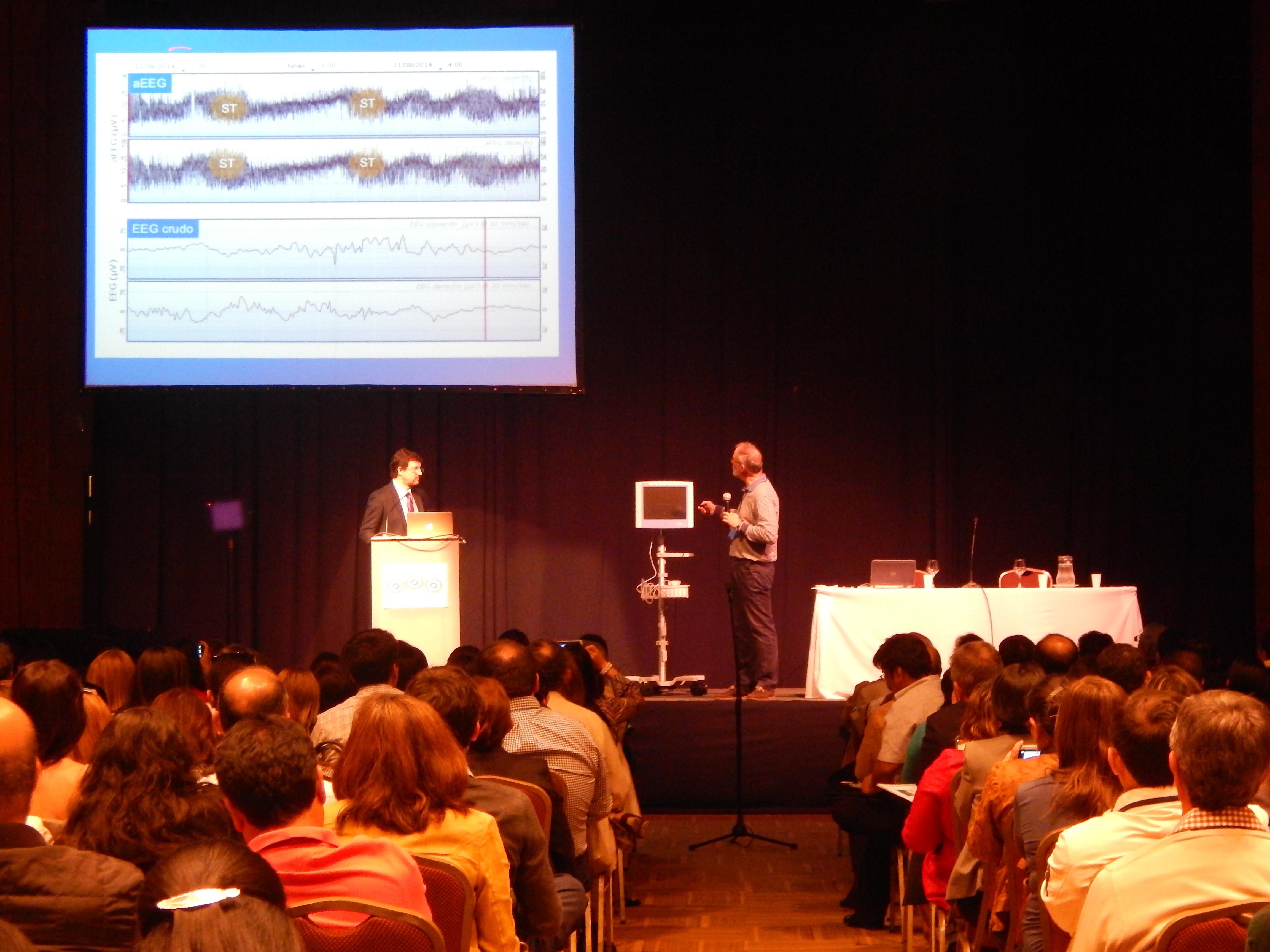 Doctores García-Alix y Fasce en el taller de aEEG