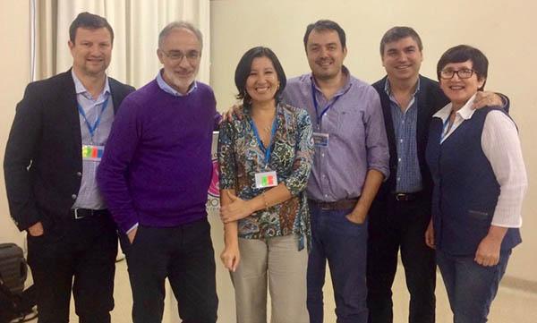 Los ponentes con las organizadoras del curso