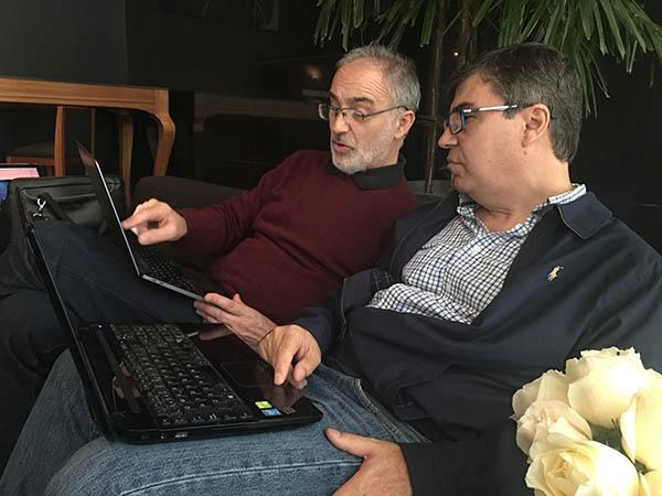 Dr. García-Alix y Dr. Lubian ultimando las charlas del curso