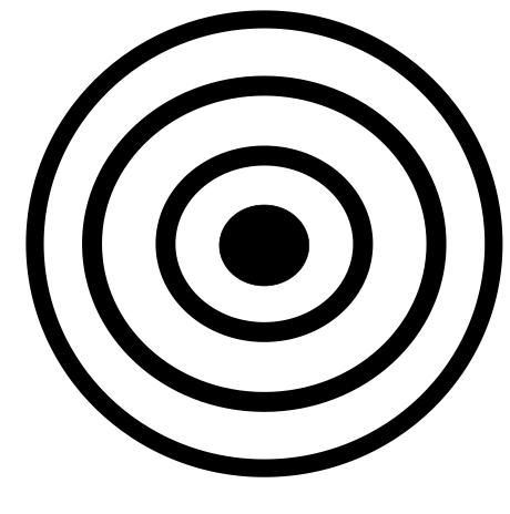 Figura 9. Carta visual (ojo de buey) para explorar la capacidad visual del neonato.